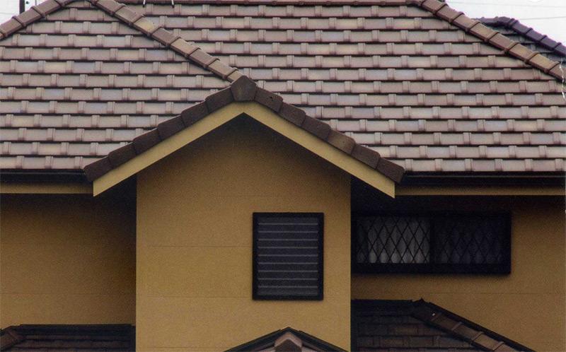 Uu >> 棕色相間色::日本瓦系列::平板瓦UU40::金義豐陶瓷有限公司